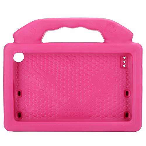 Funda para tableta de 7 pulgadas, funda protectora de EVA, funda protectora anticaída con soporte en forma de pulgar, funda para portátil inteligente y ecológica para niños (rosa)