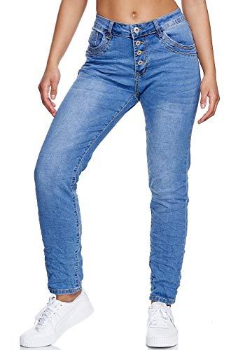JMH KAROSTAR Jeans Boyfriend Baggy Style Jeans Jeans 38 40 42 44 46 48 Blau-hl602 48