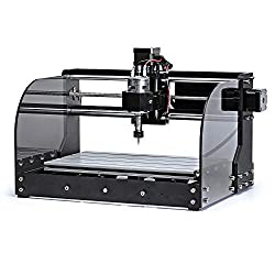 SainSmart CNC 3018-MX3 kit for milling / engraving machine with Mach3 control and various safety features, 3 axes for processing PVC, soft aluminum, working area 300mm x 180mm x 45mm