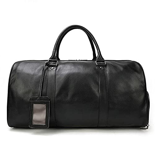 NYSJLONG Man Bag Hot Genuine Leather Men Women Travel Bag Soft Real Leather Cowhide Carry Hand Luggage Bags Travel Shoulder Bag Male Female