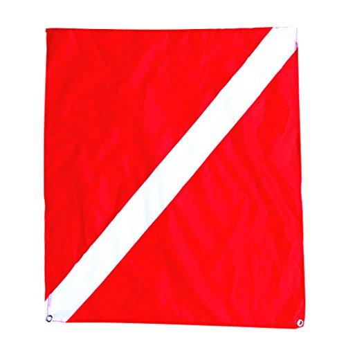 MagiDeal Nylon Bootsflagge, Rot - Weiß...