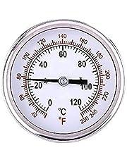 0 ℃ -120 ℃ Bbq-thermometer, roestvrijstalen roker-thermometer Temperatuurmeter voor keukenbarbecuegereedschap
