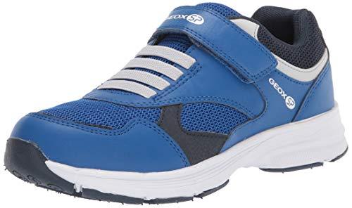 Geox Jungen Low-Top Sneaker HOSHIKO Boy J845GA Kinder Halbschuh,Sportschuh,Klettschuh, Klett-Verschluss,ROYAL/Navy,28