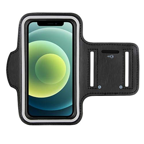 CoverKingz Armtasche für Apple iPhone 12 Mini [5,4 Zoll] Sportarmband mit Schlüsselfach, Laufarmband Fitness, Handy Armband Schwarz