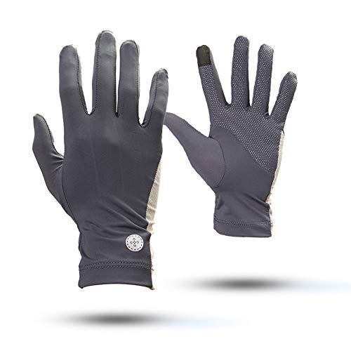 Uoyov Verano nuevos guantes Protección Solar Riding deportes al aire libre de los hombres de pesca Pesca UV antideslizantes guantes de las mujeres de sección ligera hielo guantes de la pantalla de sed
