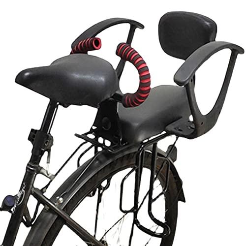 Guhih Asiento De Bicicleta para Niños Trasero, Asiento De Bicicleta para Niños Parte Trasera De La Bicicleta Asiento De Bicicleta para Niños con Reposabrazos, Adecuado para Niños De 2 A 10 Años