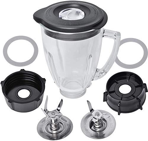 Ersatzteile für Entsafter Oster Set aus Glas, 6 Tassen, 1,5 l, mit Klingenboden, Deckel, Poweka