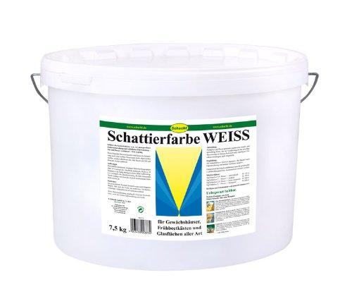 Schattierfarbe-Pulver Brunonia weiss á 7,5 kg