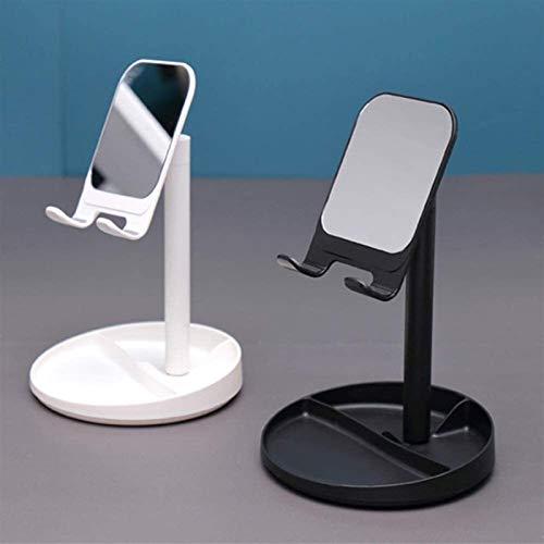 Stands Mesa de teléfono ajustable con soporte de escritorio para teléfono, ángulo y altura ajustable, compatible con todos los smartphones y tablets Ban Lu Yi (color: negro)