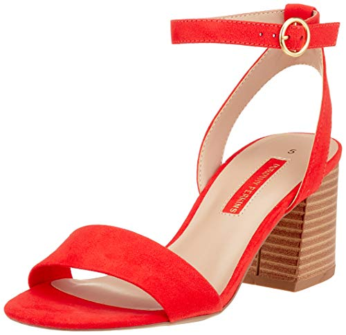 Dorothy Perkins Shady, Sandales Bout Ouvert Femme, Rouge (Red 126), 42 EU