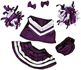"""Purple and White Cheerleader Outfit Fits Most 8""""-10"""" Webkinz, Shining Star and 8""""-10"""" Make Your Own Stuffed Animals and"""