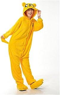 Adulto Unisexo Adventure King Jake el perro Finn el humano onesie Fiesta Disfraz de Kigurumi Con Capucha PIJAMA Sudadera Ropa Para Dormir regalo de Navidad (Jake el perro, S(height 150cm-160cm))