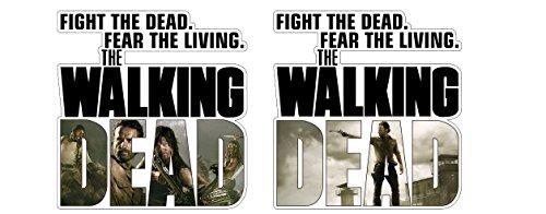 Aufkleber Fight The Dead Fear The Living Walking Dead Zombie Sticker / Plus Schlüsselringanhänger aus Kokosnuss-Schale / Auto Motorrad Laptop Tuning Racing Rick Daryl Michonne Carl Umbrella