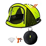 Camping Tent, Zenph 2-3 Persons Family Pop Up Tent, 3 Seconds Automatic Opening