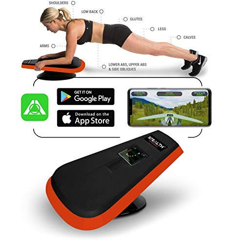 STEALTH Core Trainer - Dynamic Core & Full Body Workout While Playing Games; Free iOS/Android Mobile Games App; Patented 360 Degree Planking Motion; Build Muscle & Lose Body Fat in 3 Min/Day (Orange)