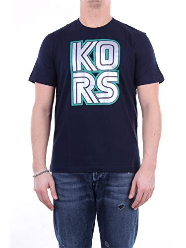 Michael Kors CS05JCCFV4 - Camiseta de manga corta para hombre azul oscuro XL