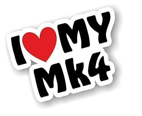 I love Herz Luv My MK4Design für MK4Escort Fiesta Golf Astra etc. Auto-Aufkleber Vinyl Aufkleber 110x 75mm