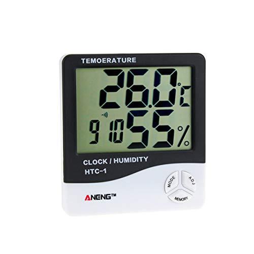 Dswe HTC-1 LCD Interior electrónico medidor de Humedad de Temperatura Digital termómetro de habitación higrómetro Reloj Despertador estación meteorológica
