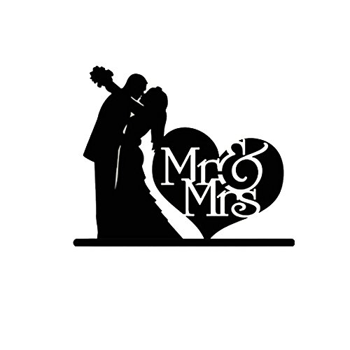ROSENICE Mr Mrs Cake Topper Sposa Decorazione Torta