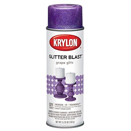 Krylon K03813A00 Glitter Blast Glitter Spray Paint for Craft Projects, Grape Glitz, 5.75 oz