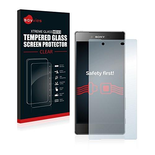 Savvies Panzerglas kompatibel mit Sony Xperia Z5 - Echt-Glas, 9H Festigkeit, Anti-Fingerprint