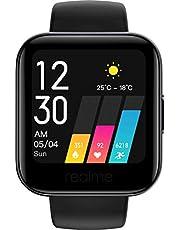 realme klocka 1 – Smart klocka för hälsa och fitness, 14 sportlägen, musik och kamerakontroller, 3,6 tums färgpekskärm, hjärtfrekvens och sömnskärm, IP68 vattentålig