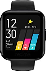 3.5 cm (1.4 inches) Large Color Touch Screen, Resolution:320*320, Up to 9 Day Battery Life, Bluetooth 5.0 Real-Time Heart Rate Monitor, Blood Oxygen Level Monitor (SpO2), Intelligent Activity Tracker (14 Sports Modes) Realme Link App - Get All Your F...