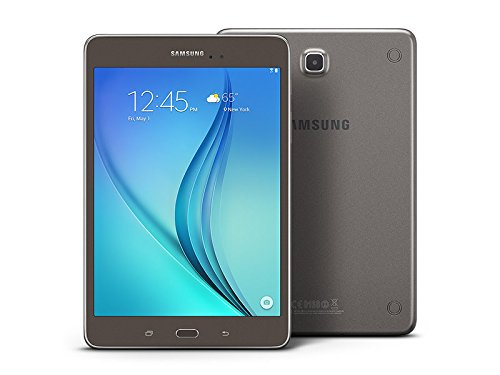 "Samsung Galaxy Tab A 8.0"" 16GB (Wi-Fi), Smoky Titanium (Renewed)"