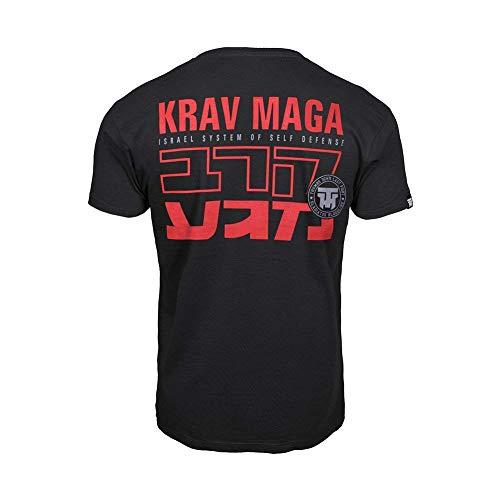 Thumbsdown Pulgares Down Krav Maga Camiseta Israel Sistema de Auto Defensa MMA. Gimnasio Entrenamiento. Marcial Artes Informal - Negro, XX-Large