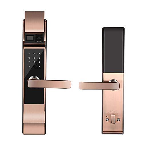 FYLD Smart Lock, intelligente elektronische deurvergrendeling, app op afstand voor het openen van de deur, 6 mogelijkheden voor het openen van de deur, aluminiumlegeringsmateriaal, Brass