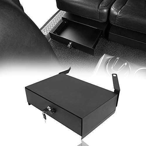 Hooke Road F150 Interior Storage Under Rear Seat Lockbox Compatible with Ford F-150 SuperCrew 09-14