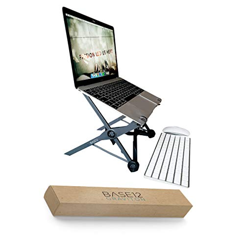 Graviton Portable Laptop Stand Ventilated and Adjustable to 30cm for MacBook and Other Laptops