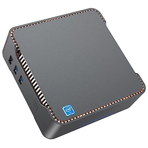 Mini PC Intel Celeron J4125,8 Go RAM + 256 Go ROM Petit Windows 10 Pro Micro Ordinateur de Bureau 4K 2.4G + 5G WiFi, Bluetooth 4.2 Télétravail