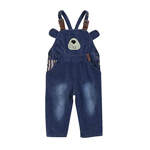 WEXCV Baby Hosen, Kinder Baby-Unisex Jungen Mädchen Pants Hose Latzhose Jeans Overall Warm Cartoon-Bär Süß Freizeit Hosen Sporthose Kleidung für...