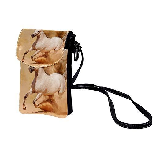 Xingruyun Mini sac à Bandoulière OVNI satellite de fusée Petit Porte-Monnaie Cuir Sac à bandoulière Mobile avec Fente pour Carte de Crédit pour filles/femmes/enfants 19x12x2cm