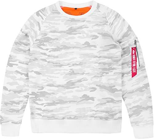 Alpha Herren Pullover Weiß / Camo Medium