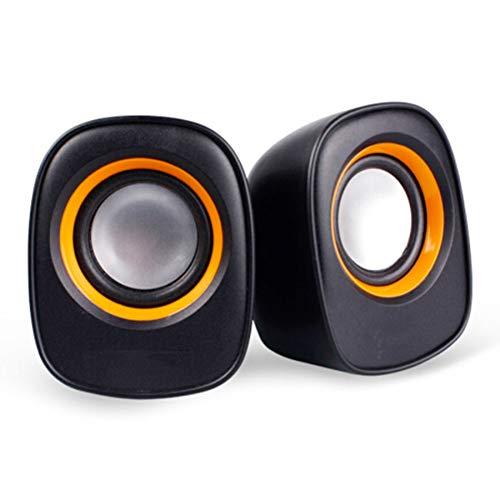 Speakers 2 Mini 4 Pouces Haut-parleurs de câblé USB Prise Audio 3,5 MM Hyundai HY-66T Audio pour Les Ordinateurs Cahier 2-Way Full Range Audio de fréquence Stéréo Noir