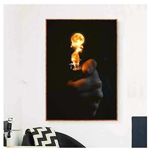 Aansteker Fire Ball Nordic Style Decoratie Canvas Posters En Prints Wall Art Foto Woonkamer -60x90cmx1 frameloos