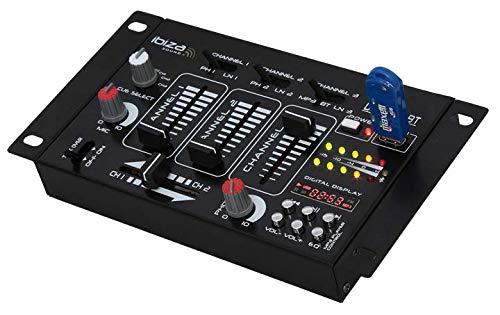 IBIZA DJ21USB-BT DJ MISCHPULT MIT USB & BLUETOOTH PARTY DISCO MUSIK EVENT DJ BÜHNE LAUTSPRECHER SOUNDSYSTEM