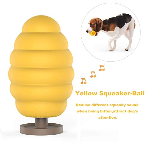 PETKIT Hund Quietschspielzeug mit 6 Stimme, Naturkauschuk Hundespielzeug Kugel Robust für Hunde und Welpen, Fashion und Leicht zu Aufbewahrung