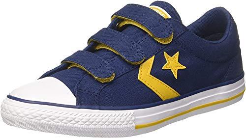 Converse Unisex-Kinder Star Player EV 3V OX Fitnessschuhe, Blau (Navy/Mineral Yellow/White 426), 34 EU