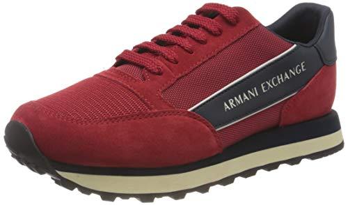 ARMANI EXCHANGE Osaka Sneaker, Scarpe da Ginnastica Uomo, Rosso, 40 EU