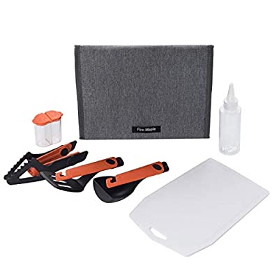 Fire-Maple Chef Camp Kitchen Set | Portable 6 pc Kit with Folding Tongs, Spatula, Spoon | Essential Outdoor Gear for Backpacking, Car Camping, Fishing, BBQ, and Travel