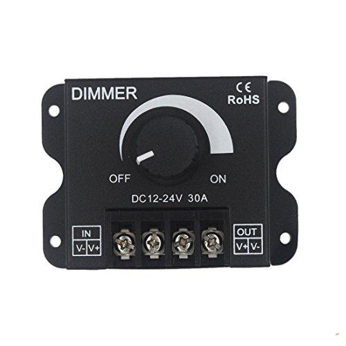 JOYLIT Pulsante Dimmer LED 12 V 24 V 30 A PWM Dimmer Controller 360 W per strisce LED