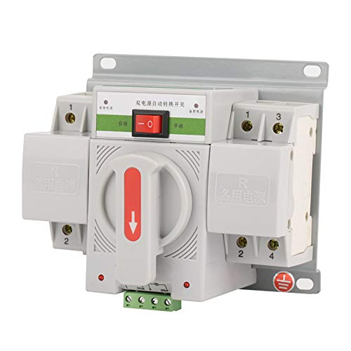 Jingyig Interruptor de Transferencia automática, Mini Interruptor de Transferencia automática de energía Dual, Equipo de distribución de energía con disyuntor para Edificios de oficinas Fuente de