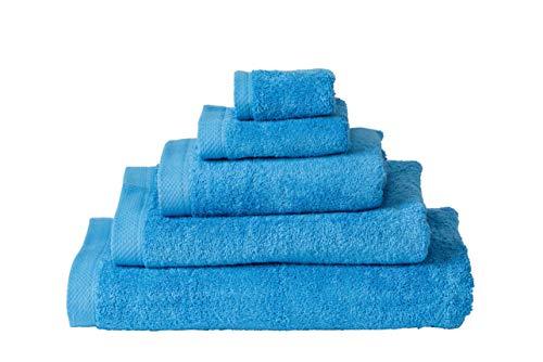 Handdoek 50x100 cm Uni List Licht Blauw 11091 4 Stuks (500 gr/m2)