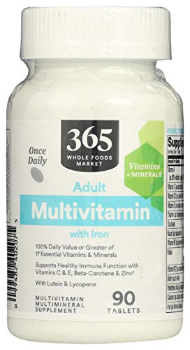 365 by Whole Foods Market, Supplements - Multivitamins, Adult Multivitamin with Iron, 90 Count
