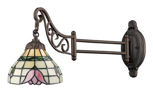 Elk 079-Tb-09 Tulip Mix-N-Match 1-Light Swing Arm Sconce, 12-Inch, Tiffany Bronze