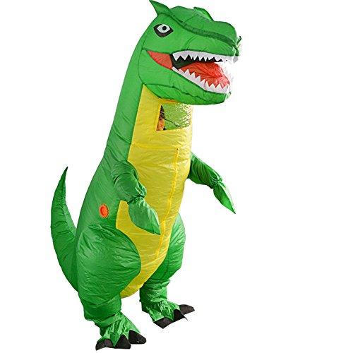 Disfraz hinchable de dinosaurio para adultos, disfraz divertido de disfraces de cosplay, multicolor