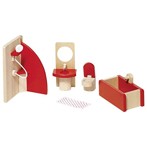 Goki 51717 Puppenmöbel Badezimmer, Basic
